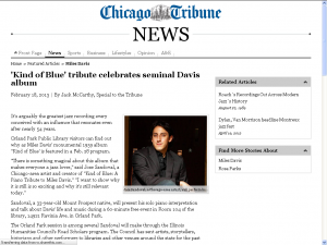 Kind of Blue Chicago Tribune Article